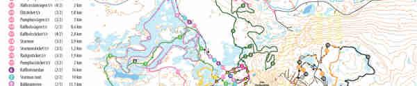 Karta över alla längdspår
