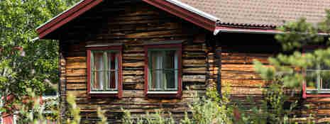 Timmerstuga i Orsa Grönklitt sommartid